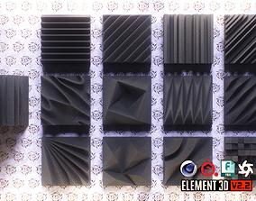 Acoustic Panels Kitbash Pack 3D model