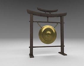3D model Japanese classic gong