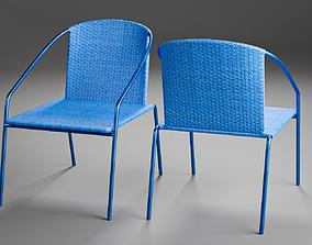 3D Modern Outdoor Rattan Bistro Chair