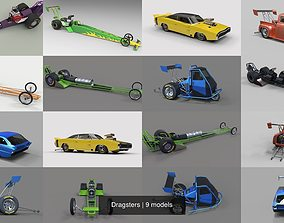 Dragsters 3D model