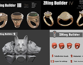 Zbrush Ring builder pack 3D model