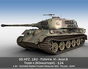 Panzerkampfwagen VI - Ausf B - Tiger II - 124 3D