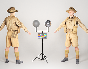Game ready character of WW 2 Australian soldier 3D asset