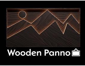 Wooden panno 3D asset