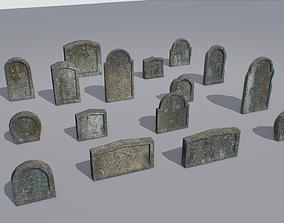 3D model Gravestones pack 3