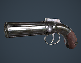 Allens and Turber Pepperbox Revolver 3D model