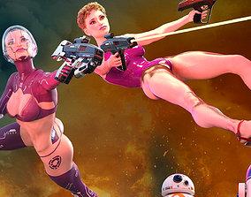 Mita Yord for Genesis 8 Female 3D model animated