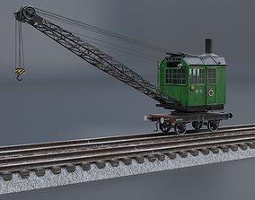 3D asset Steam rail crane PK-6