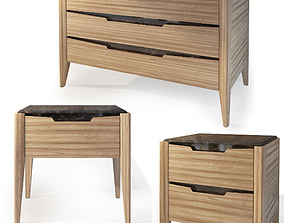 Dresser and nightstand Anniversary by Moletta 3D model