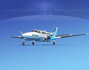 3D model Beechcraft B99 Devonair