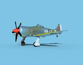 Hawker Tempest MKII V03 RAF 3D model