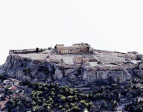 3D asset low-poly Acropolis of Athens - Parthenon