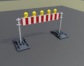 3D model Construction Barrier 7 with animated 2