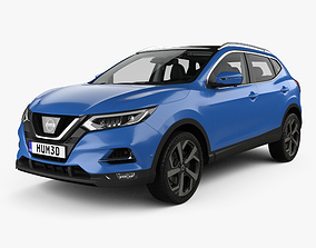 Nissan Qashqai with HQ interior 2017 3D