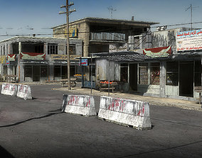 3D asset 25 Afghanistan City Buildings Props for Games