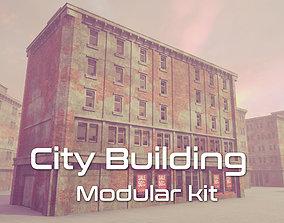 City Building Modular Kit modular 3D asset