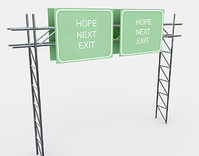 3D Highway Sign