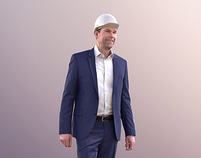 Lars 10427 - Business Man Walking With Helmet 3D asset