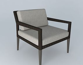 3D model Dedon Tribeca Lounge Chair