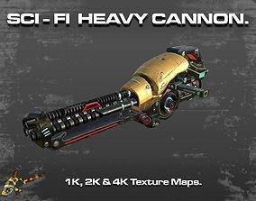 3D model SCI-FI HEAVY CANNON