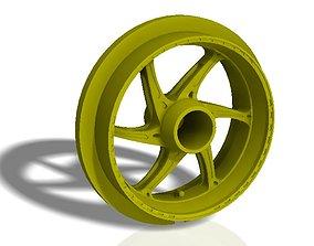 Front and rear OZ 6 spoke bike rims 3D print model