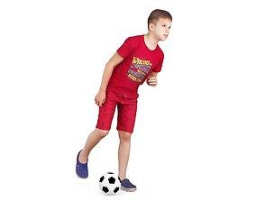 Football Boy 3D asset