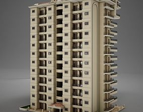 3D model BIG Tropical Latin Mexican Beach Tower Hotel