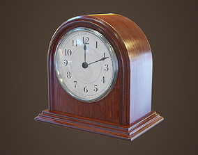 3D asset Small vintage table clock