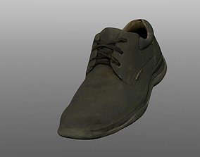 Boot 3D model low poly walking low-poly