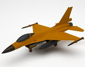 3D model airplane fighter