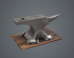 Felt forge smithy tools metal forge anvil forge 3D