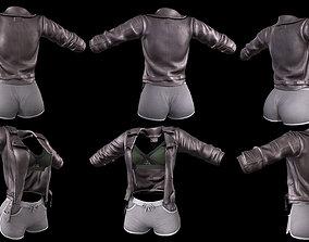 3D asset Jacket top shorts