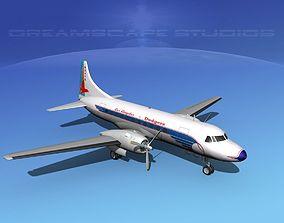 Convair CV-340 LA Dodgers 3D