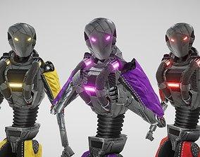 3D asset Sci fi Humanoid Robot
