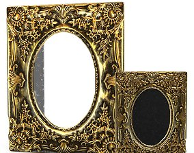 3D model Antique Frame Mirror 2