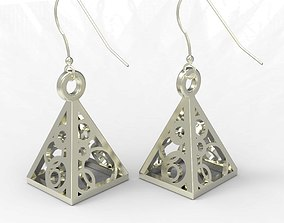 3D printable model Earring triangle