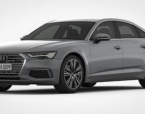 a6 3D model Audi A6 2019 Detailed Interior