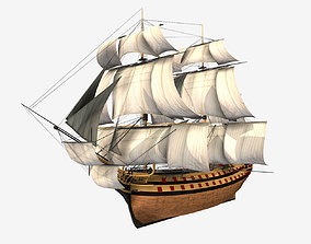 3D model Low Poly PBR HMS Vangaurd