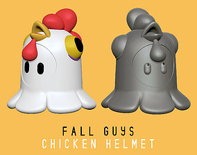 3D printable model Fall Guys - Chicken Helmet - Real Scale