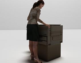 Printer women 3D model