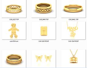 150 Plain Gold Ring Earrings Pendant 3dm stl