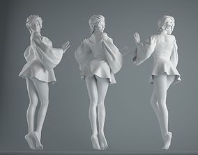 3D print model Women wear skirts 001