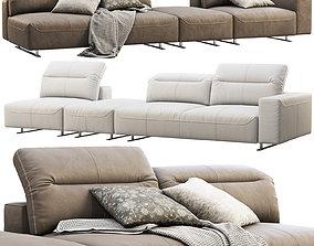 3D model BoConcept Hampton modular leather sofas 2 options
