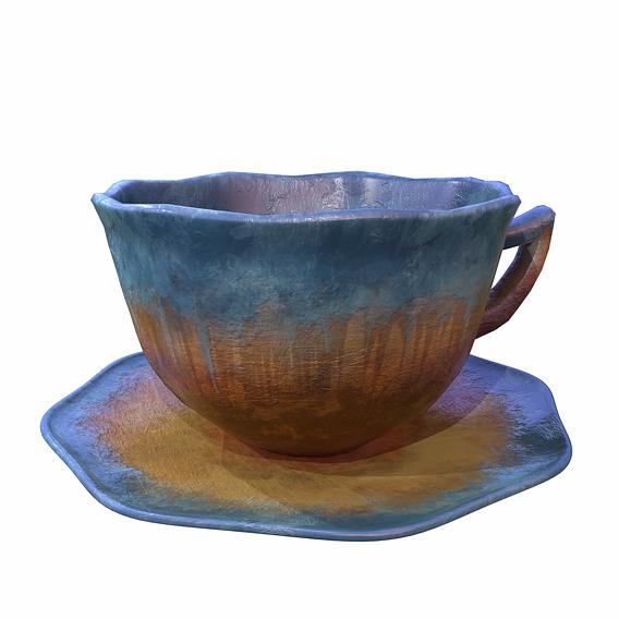Blue Glazed Cup