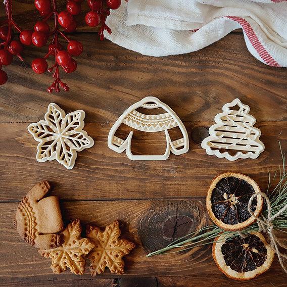 Christmas Cookie Cutter Set 3D print model