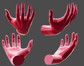 3D print model Detailed Female Hand Relaxed Pose 2