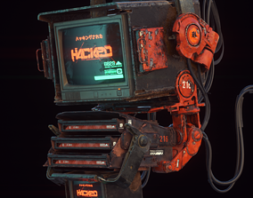 Cyberpunk Hacker Terminal V2 3D model