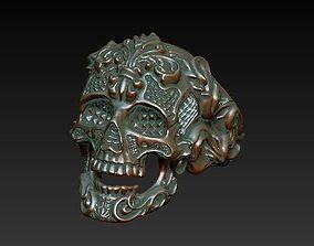 3D printable model Skullring - Skull ring Ornament