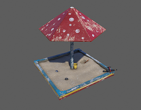 3D asset Old Sand Box