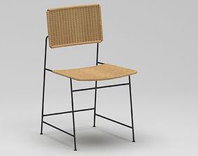 3D Herta Maria Witzemann Rattan Chair